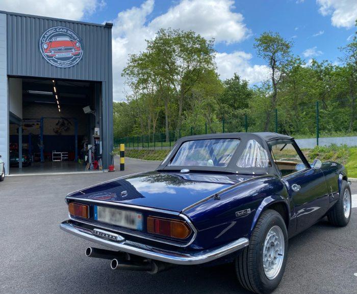 Spitfire mk4 1974 bleue arrière