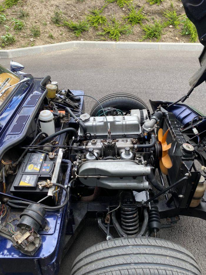 Spitfire mk4 1974 bleue compartiment moteur
