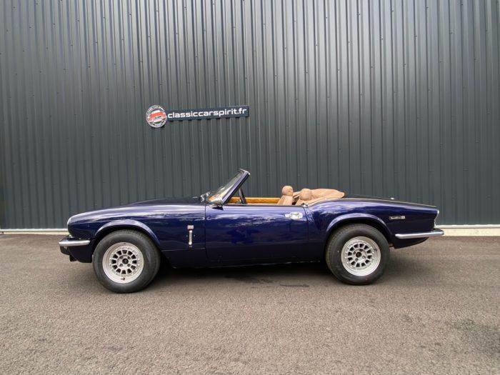 Spitfire mk4 1974 bleue profil