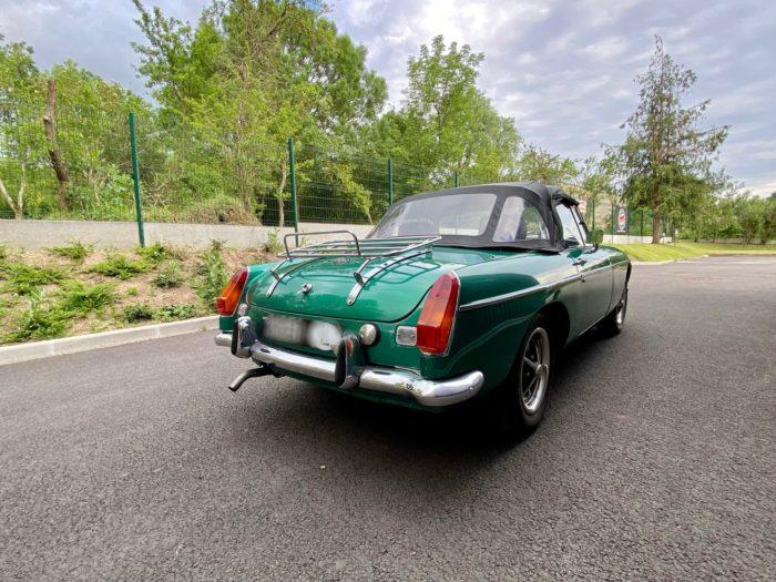 Mgb 1973 verte arrière droit